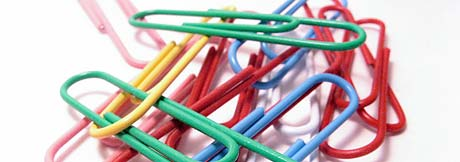 bunch of colorful paper clips