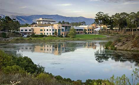 ucsb recreation center view from the lagoon